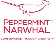 A logo for Peppermint Narwhal