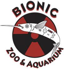 A logo for Bionic Zoo & Aquarium