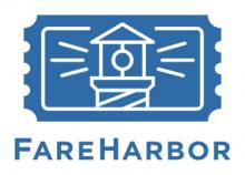 A logo for FareHarbor