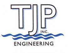 A logo for TJP, Inc.